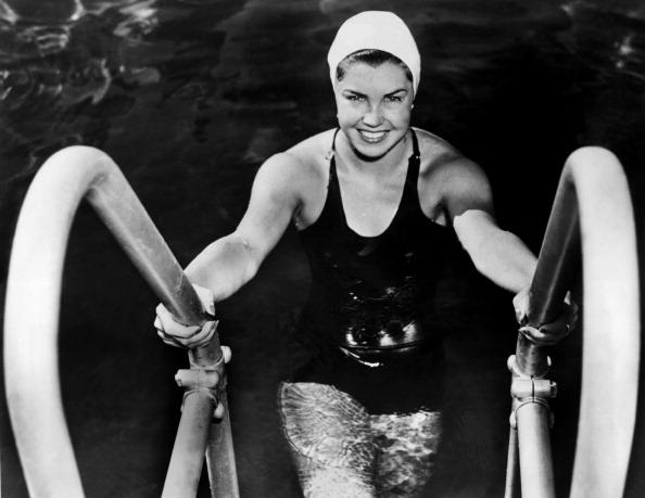 UNITED STATES - JULY 28:  American Swimmer Esther Williams, Member Of The Los Angeles Athletic Club Swim Team, After Winning 100M Freestyle At The American Swimming Championships In Iowa, July 28, 1939.  (Photo by Keystone-France/Gamma-Keystone via Getty Images)