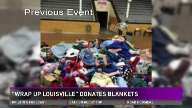 Wrap Up Louisville blanket drive