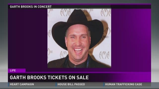 Garths Brooks tickets on sale