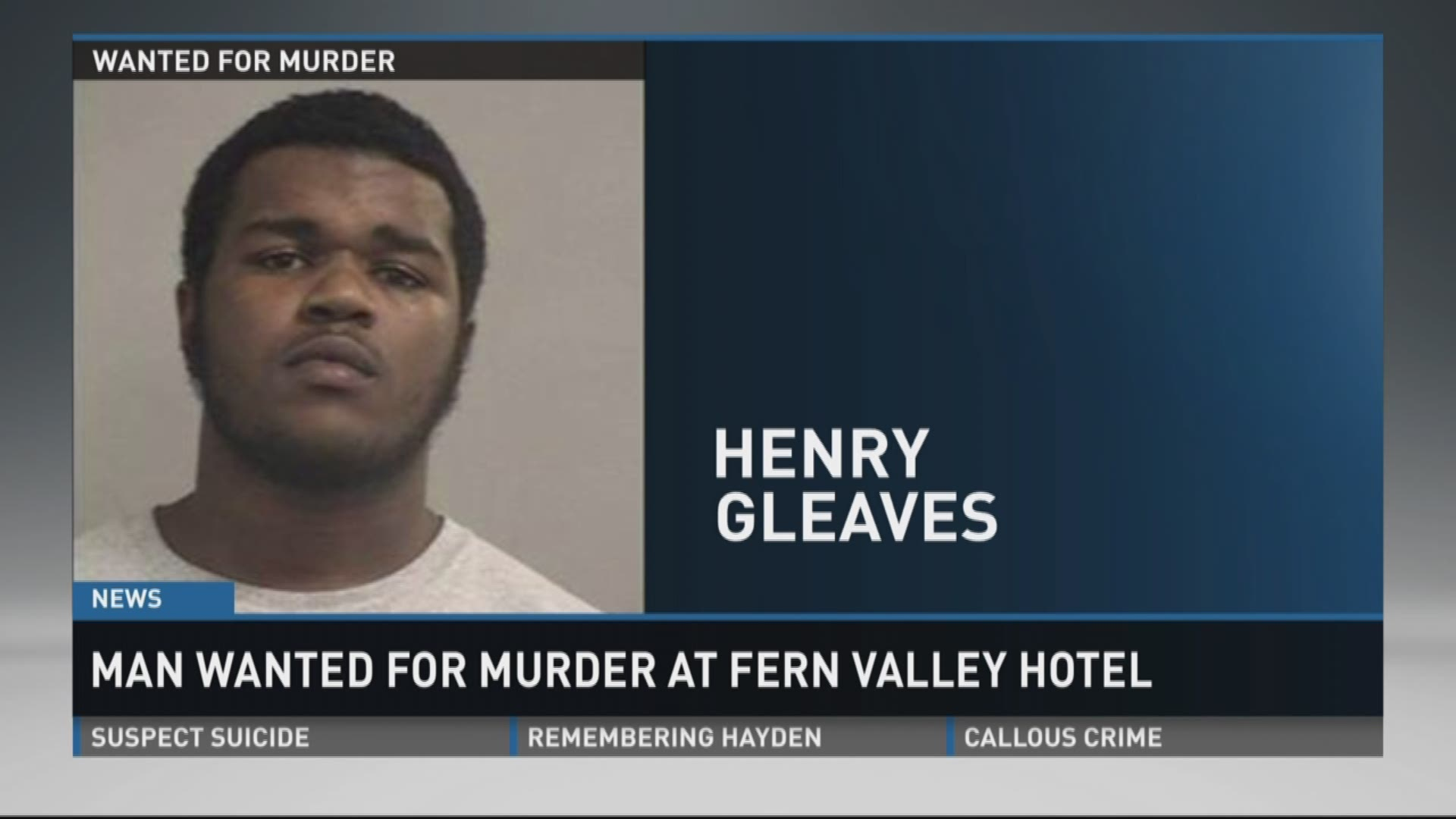 20-year-old wanted for murder at Fern Valley Hotel