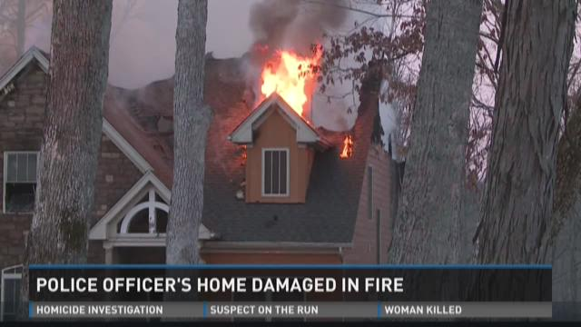 Police officer's home damaged in fire