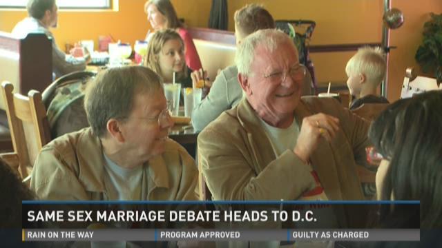 Same sex marriage debate heads to D.C.