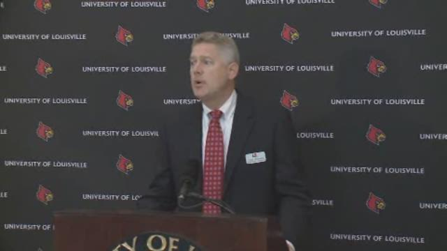 UofL interim basketball coach press conference