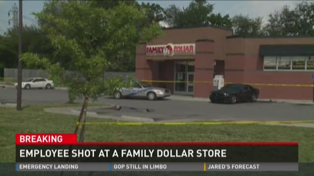 Employee shot at a family dollar store