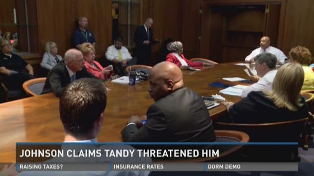 Johnson claims Tandy threatened him during Metro Council meeting