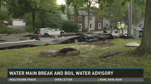 Video | Louisville boil water advisory, water main break