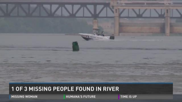 1 of 3 missing people found in river