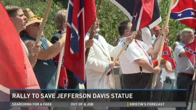 Video | Rally to save Jefferson Davis statue