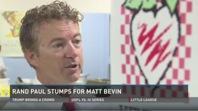 Video | Rand Paul on the stump for Matt Bevin