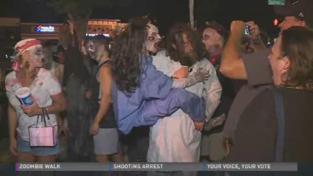 Hundreds gathered on Bardstown Road for the annual Zombie Walk